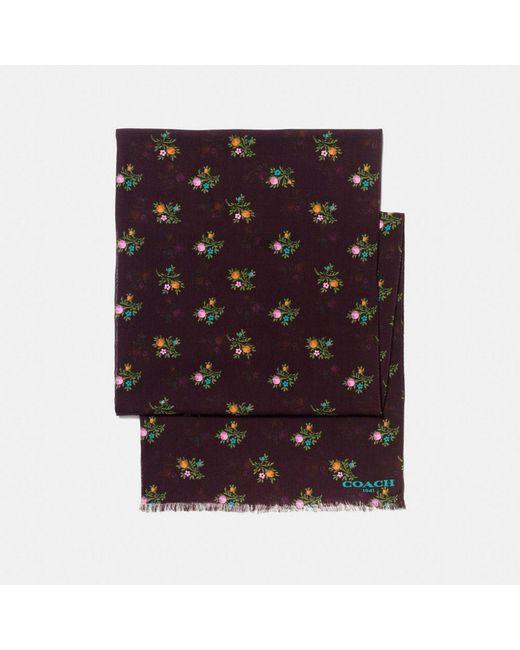 COACH - Multicolor Allover Cross Stitch Floral Oblong - Lyst