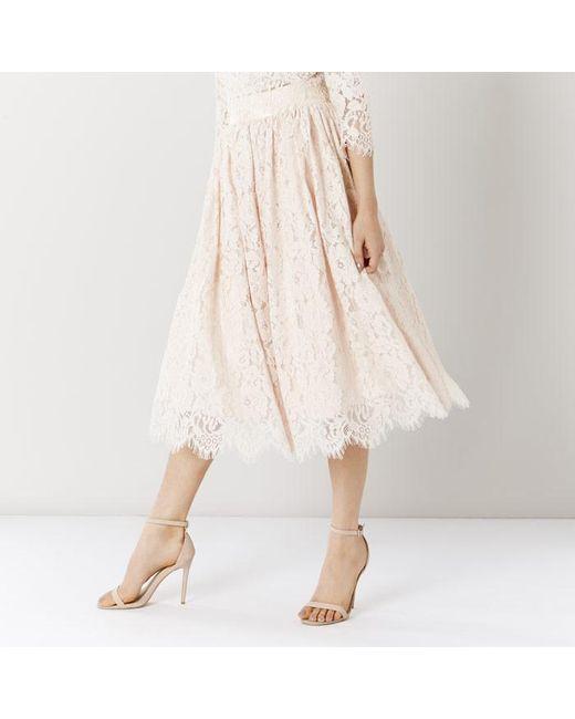 coast sardinia lace midi skirt save 45 lyst
