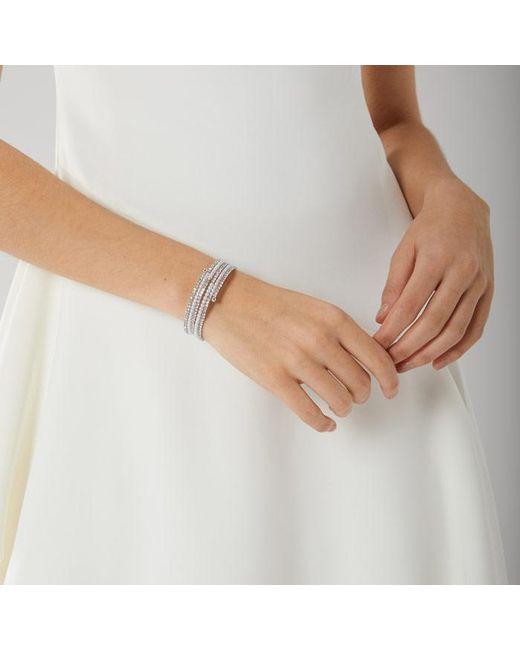 Coast - Metallic Silver 'alma' Pearl Wrap Bracelet - Lyst