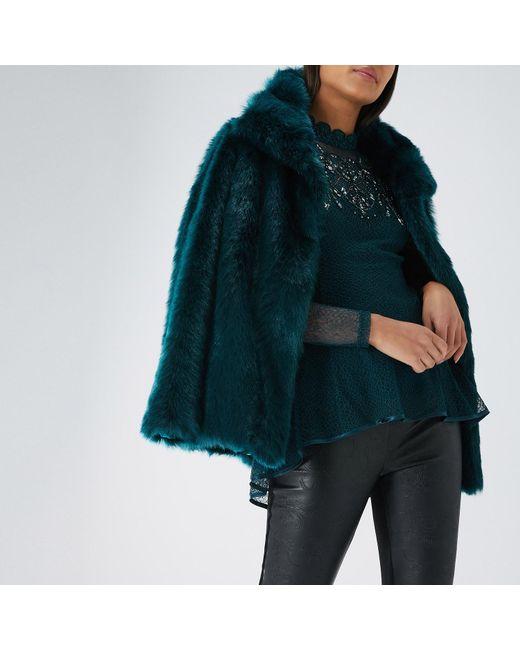 Coast - Blue Lucy Fur Coat - Lyst