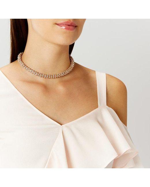 Coast | Metallic Seline Sparkle Wrap Necklace | Lyst