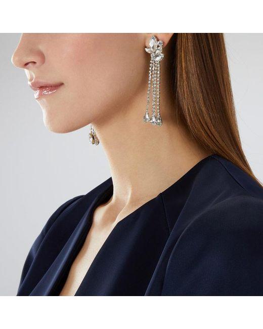 Coast - Metallic Silver 'amelia' Statement Earrings - Lyst
