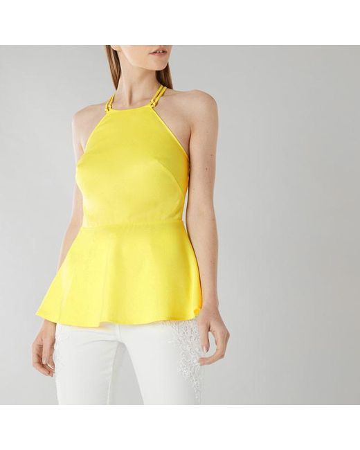 Coast - Yellow Kalissa Halter Top - Lyst
