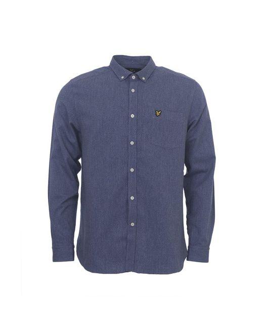 Lyle & Scott - Blue Mouline Twill Shirt for Men - Lyst