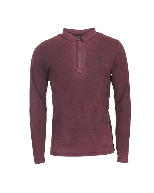 Replay - Purple Long Sleeve Polo Shirt for Men - Lyst