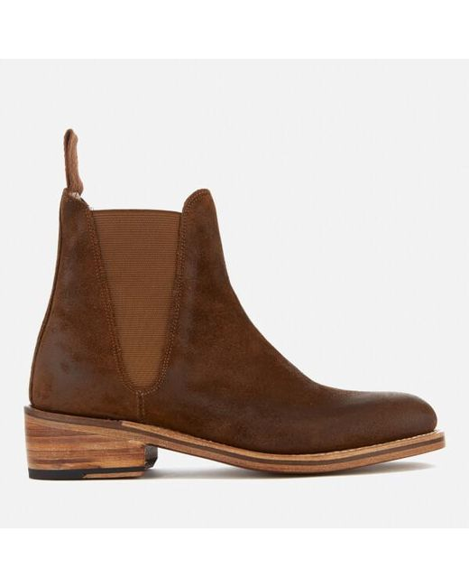 GRENSON - Brown Women's Nora Burnished Suede Chelsea Boots - Lyst