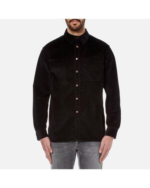 Nudie Jeans   Black Men's Calle Cord Shirt for Men   Lyst