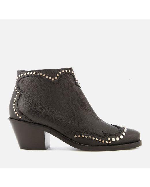 McQ Alexander McQueen - Black New Solstice Zip Ankle Boots - Lyst