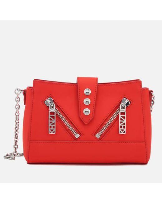 KENZO - Red Women's Kalifornia Mini Shoulder Bag - Lyst