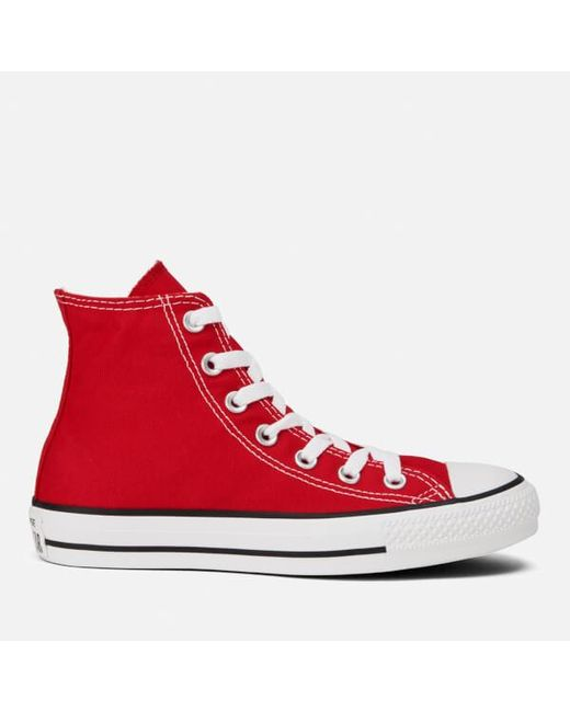 Converse | Red Unisex Chuck Taylor All Star Canvas Hitop Trainers for Men | Lyst