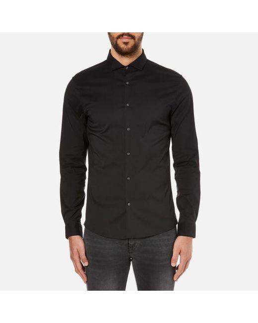 Michael Kors | Black Long-sleeve Button-front Shirt for Men | Lyst
