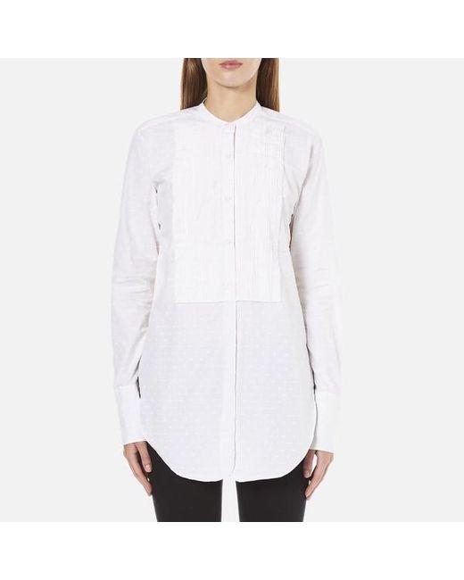 Helmut Lang   White Women's Raw Tuxedo Shirt   Lyst