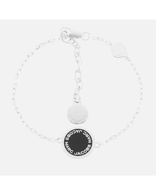 Marc Jacobs | Black Women's Enamel Logo Bracelet | Lyst