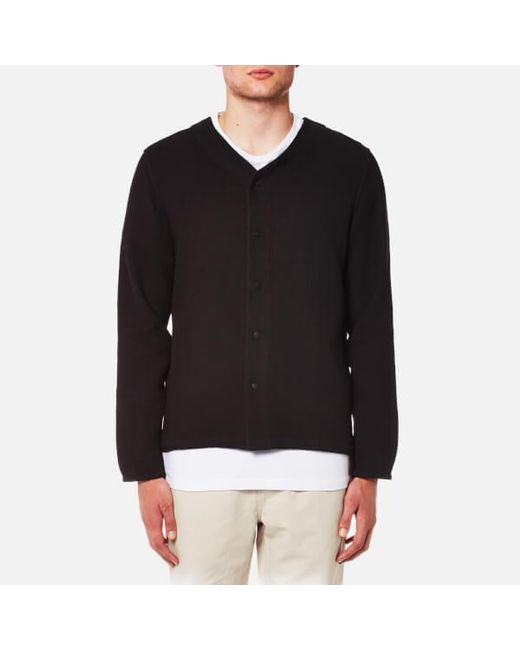 Folk | Black Men's Long Sleeve Bowling Shirt for Men | Lyst