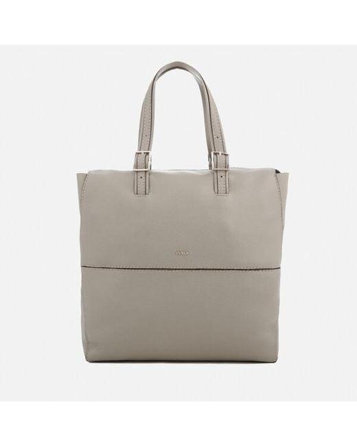Furla - Gray Women's Dori Small Tote Bag - Lyst