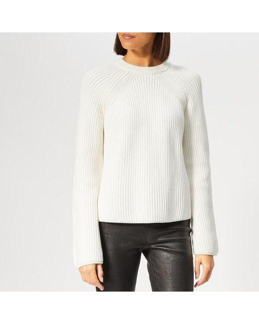 259110d942e McQ Alexander McQueen - White Women s Lace Up Knitted Jumper - Lyst ...