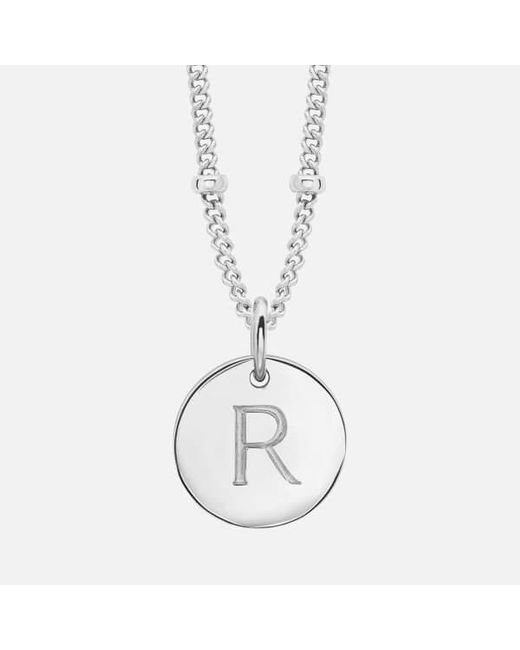 Missoma - Metallic Women's Gold 'r' Initial Necklace - Lyst