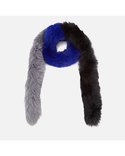 BKLYN - Blue Women's Fox Fur Scarf - Lyst