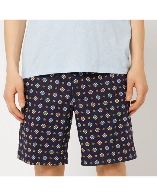 3b696bc5 KENZO - Blue Patterned Shorts for Men - Lyst ...