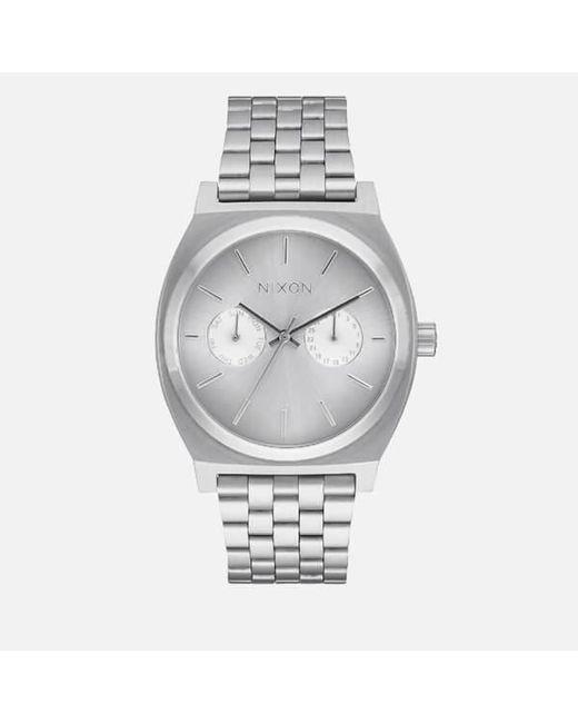Nixon | Metallic Time Teller Deluxe Watch | Lyst
