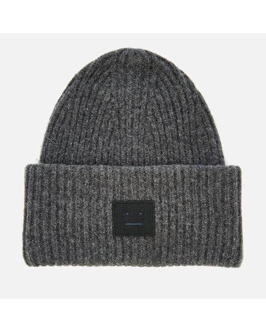 Acne - Gray Men s Pansy L Face Beanie Hat for Men - Lyst ... 5b3edf7cd289