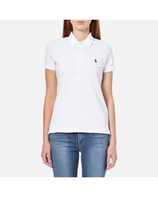 Polo Ralph Lauren Women s Julie Polo Shirt in White - Lyst 4a56763c18