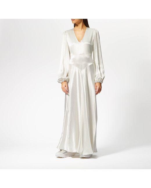 5b0d6406 Ganni - White Cameron Maxi Dress - Lyst ...