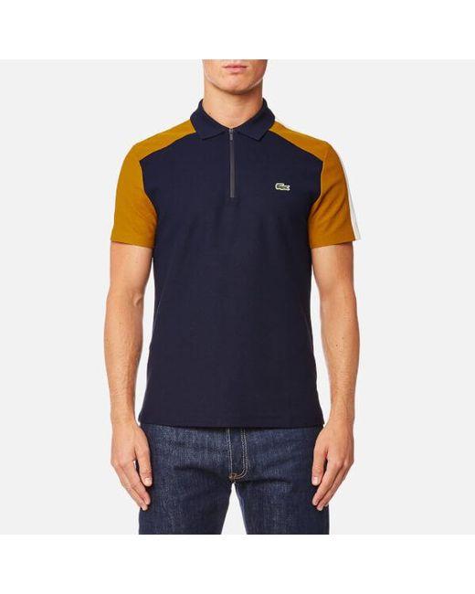 Lacoste - Blue Men's Shoulder Detail Polo Shirt for Men - Lyst