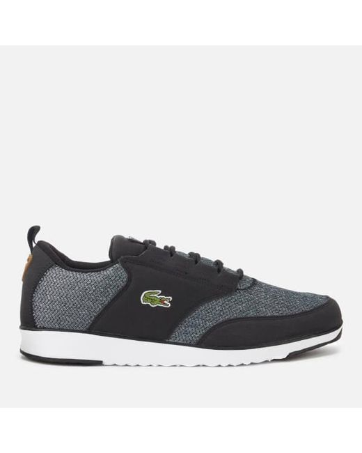 b3f8a5a670705 Lacoste - Black Men s Light 318 3 Textile Runner Style Trainers for Men -  Lyst ...