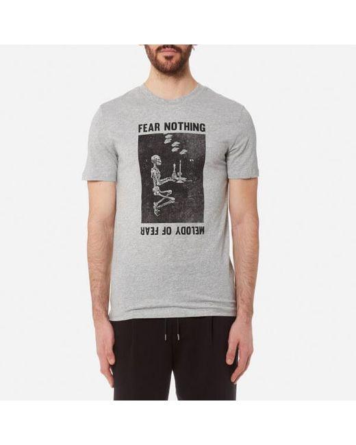 McQ Alexander McQueen - Gray Men's Short Sleeve Fear Nothing Tshirt for Men - Lyst