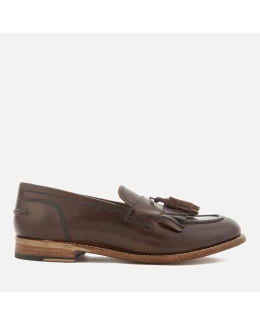 Tan Mackenzie Hand-Painted Leather Tassel Loafers Grenson 6XcbTkhOy