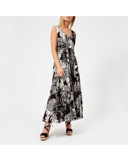 See By Chloé - Black Women's Palm Print Maxi Dress - Lyst