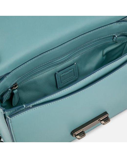 36bfcc3ebcb9 ... Lyst COACH - Blue Women s Swagger Shoulder Bag ...
