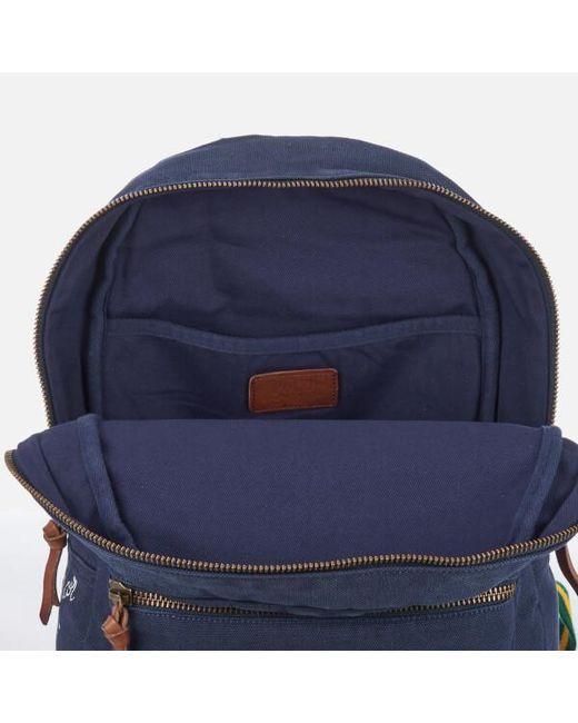 ... Polo Ralph Lauren - Blue Men s Canvas Logo Backpack for Men - Lyst c3ab8f89526ed