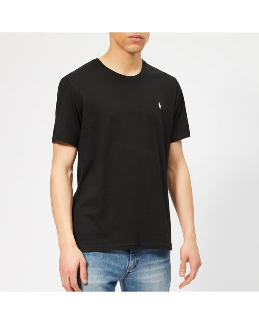 9eafd1c73 Polo Ralph Lauren - Black Liquid Cotton Jersey T-shirt for Men - Lyst ...