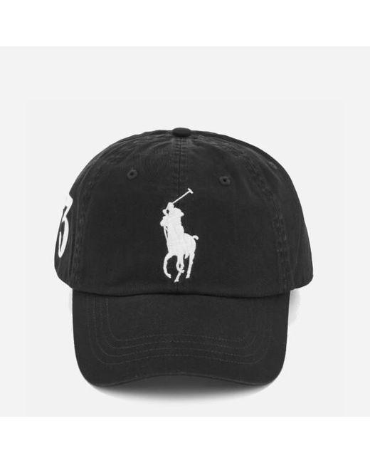 4c463c84cd9 Polo Ralph Lauren - Black Men s Large Logo Cap for Men - Lyst ...