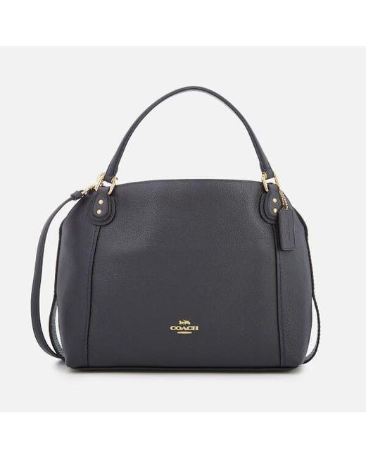e45c0ef25404 COACH - Blue Women s Leather Edie 28 Shoulder Bag - Lyst ...
