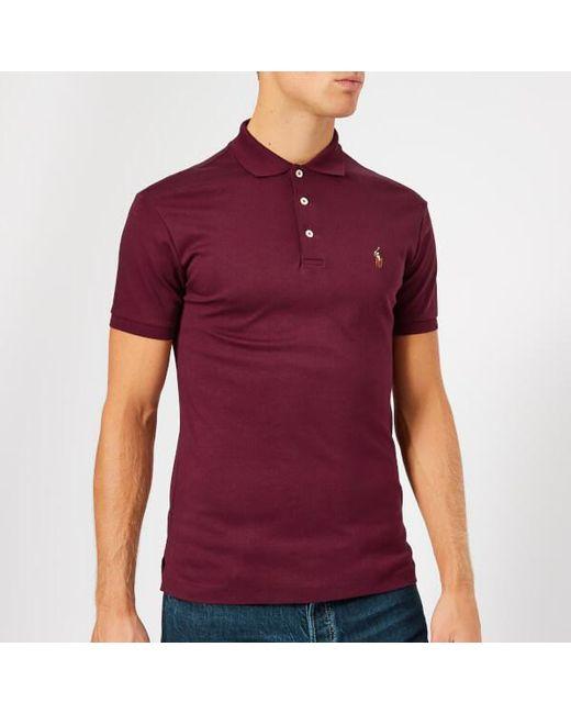e44be03a7 Polo Ralph Lauren - Multicolor Men s Slim Fit Pima Polo Shirt for Men - Lyst  ...