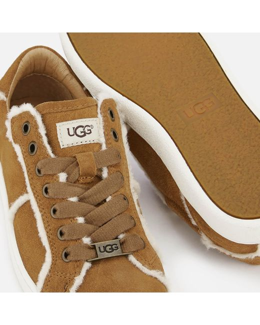 8e8b1c8af51 UGG Milo Spill Seam Suede Trainers in Brown - Lyst