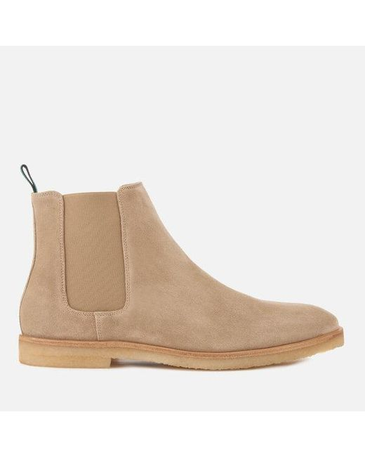 PS by Paul Smith Taupe Suede Andy Chelsea Boots