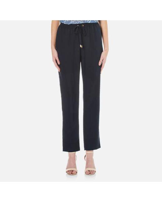 MICHAEL Michael Kors   Blue Women's Pull On Slim Pants   Lyst