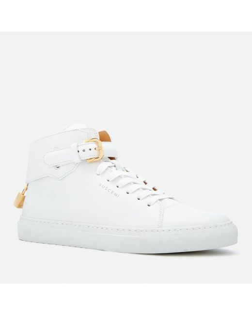 100mm Buckle high-top leather trainers Buscemi PYXBF2Rb