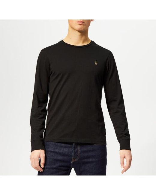 e64f69704 Polo Ralph Lauren - Black Men s Long Sleeve Tshirt for Men - Lyst ...