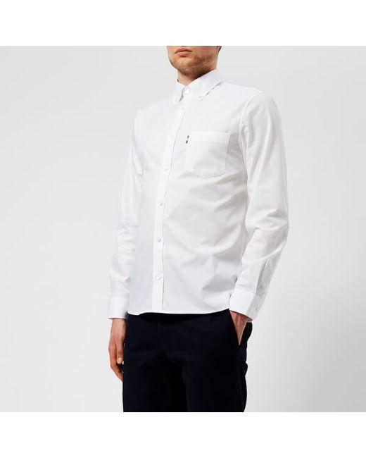 Aquascutum - White Men's Casper Poplin Long Sleeve Shirt for Men - Lyst