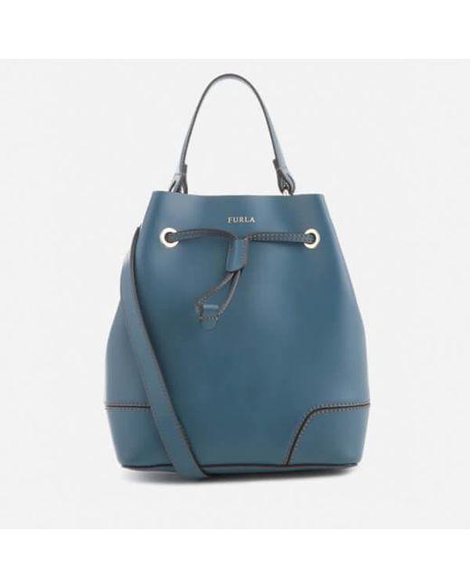 Furla | Blue Women's Stacy Small Drawstring Bag | Lyst