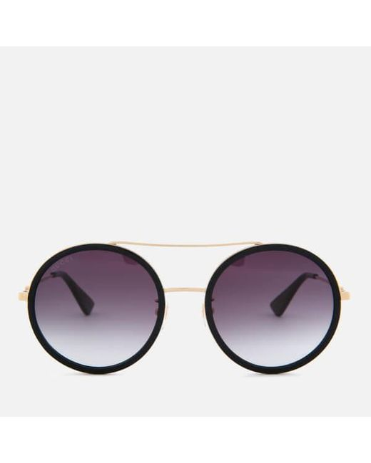 Lyst - Gucci Women\'s Metal Frame Round Sunglasses in Metallic