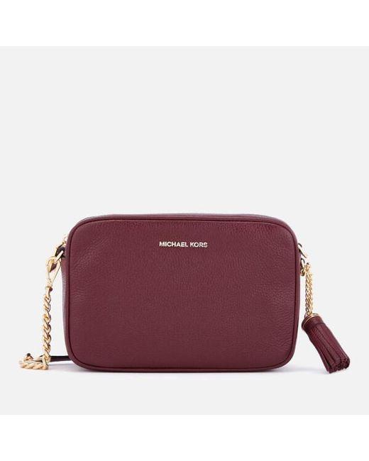 20892b1ef868 MICHAEL Michael Kors - Purple Women's Ginny Medium Camera Bag - Lyst ...