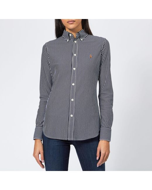 8752159533e Polo Ralph Lauren - Blue Heidi Oxford Striped Shirt - Lyst ...