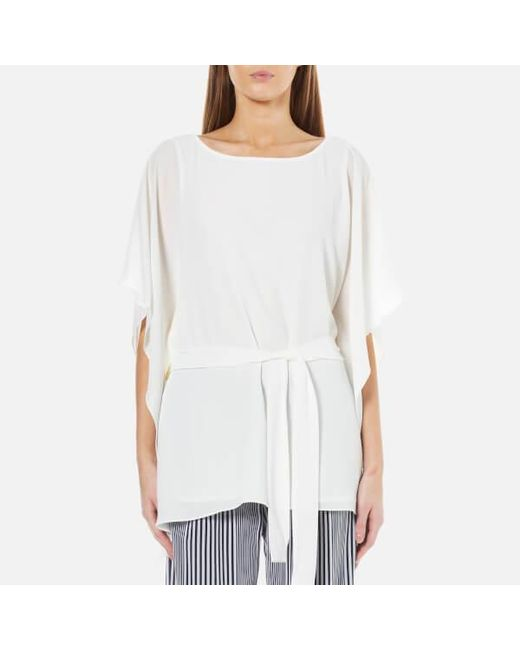 MICHAEL Michael Kors | White Women's Boatneck Tunic Top | Lyst