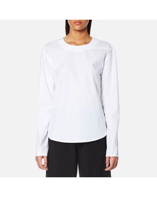 Lyst - Dkny Women's Extra Long Sleeve Shirt With Open Back And Tie ...